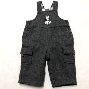 5/$25 Children's Place wool flannel overalls 0-3 M